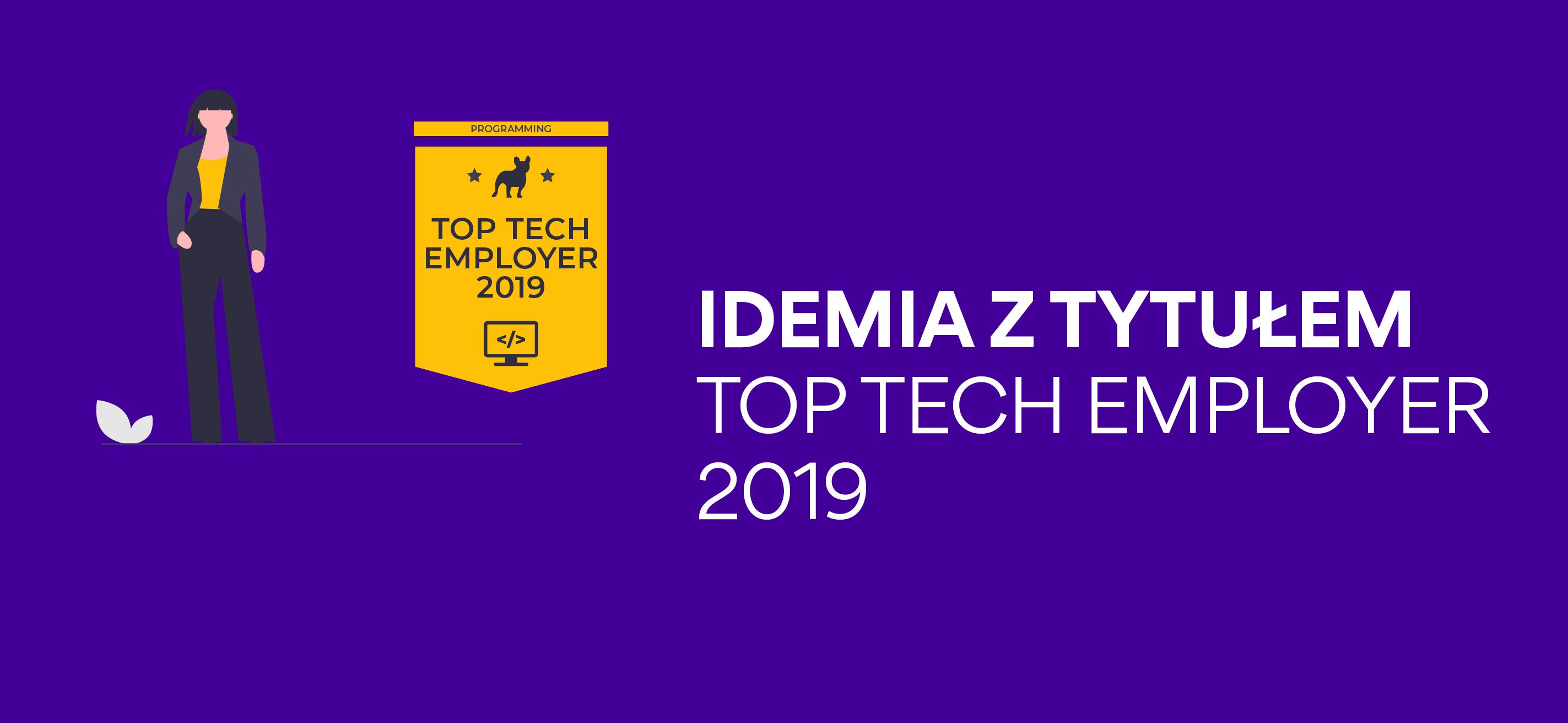 Idemia ztytułem Top Tech Employer 2019